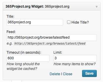 365Project.org Widget