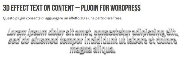 3D Effect Text