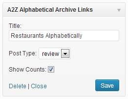 A-2-Z Alphabetical Archive Links