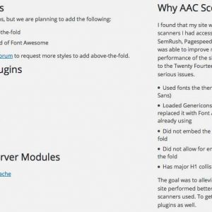 AAC Scoring