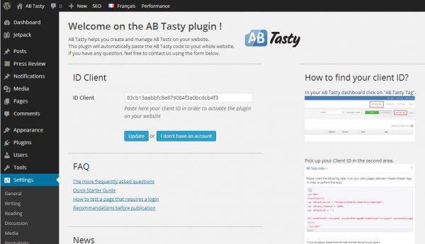 AB testing with AB Tasty