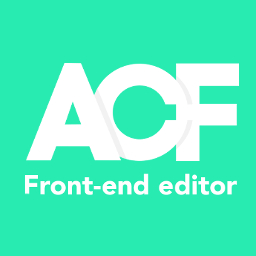 ACF Front End Editor