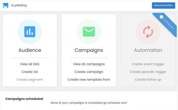 Newsletter and Marketing Automation Campaigns Plugin – AcyMailing