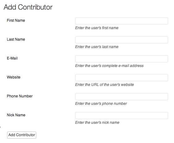 Add Contributor