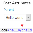 Add Hierarchy (parent) to post