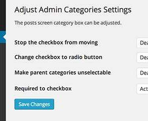 Adjust Admin Categories
