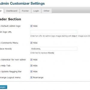 Admin Customizer