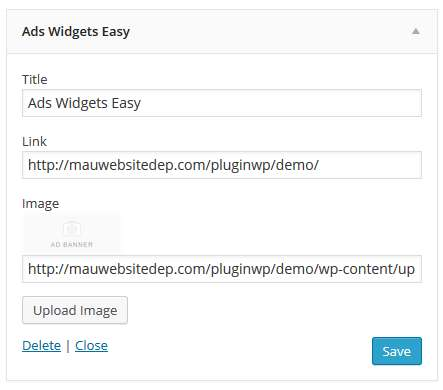 Ads Widgets Easy