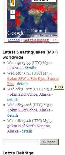 Advanced Earthquake Monitor