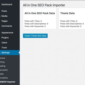 All in One SEO Pack Importer