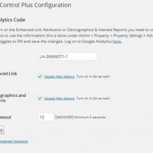 Analytics Control Plus