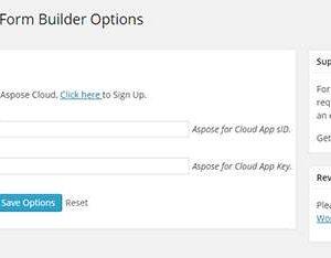 Aspose Cloud Excel to Form Builder