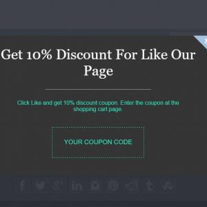 Auto Gift Coupon Popup