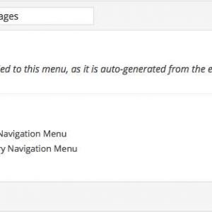 Auto Menu From Pages