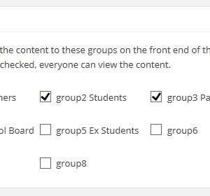 Private groups