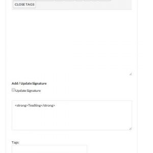 Better bbPress Signature