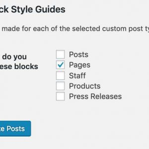 Block Style Guides