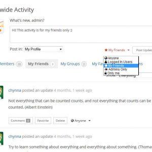 BuddyPress Activity Privacy