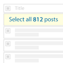 Bulk Actions Select All