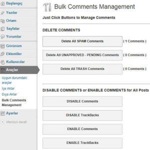 Bulk Comments Management