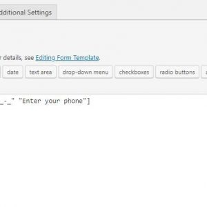 Contact Form 7 – Phone mask field
