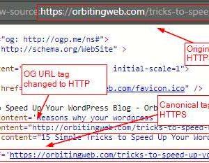 Change OG URL To HTTP