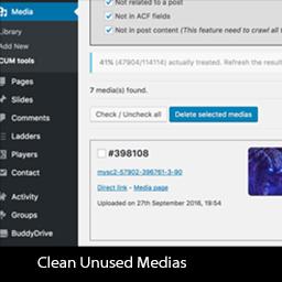 Clean Unused Medias