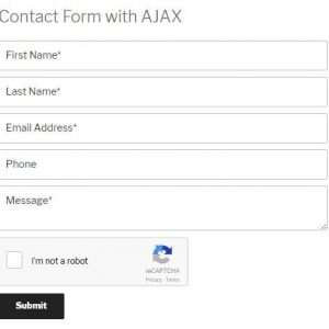 Contact Form with Ajax