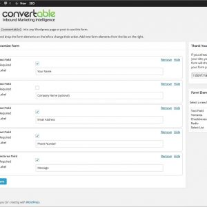 Convertable Contact Form Builder Analytics and Lead Management Dashboard