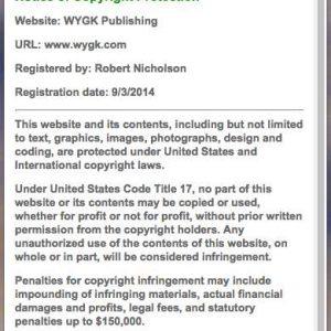 Copyright Safeguard Footer Notice