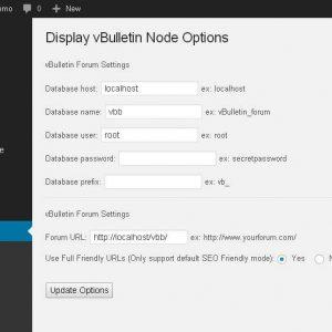 Display vBulletin Node