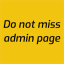 do not miss admin page