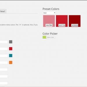 Easily Change Admin Color