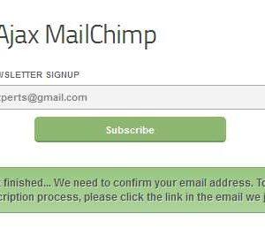 Easy Ajax MailChimp
