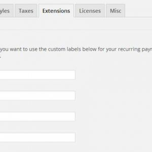 EDD Recurring Payment Labels