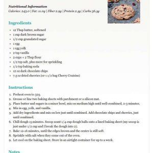 Editable Recipe