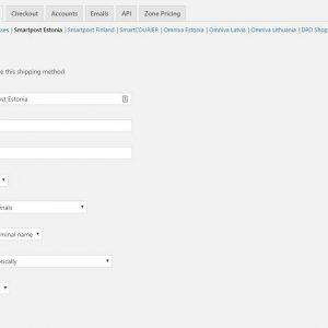 Estonian Shipping Methods for WooCommerce