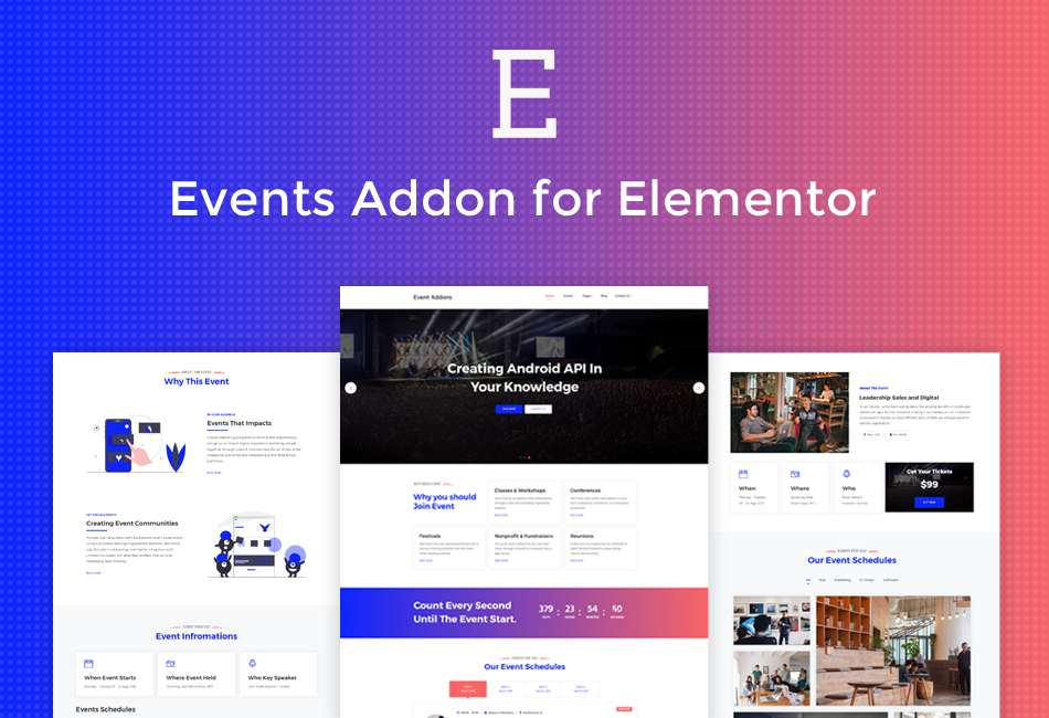 Events Addon for Elementor - Plugin for that