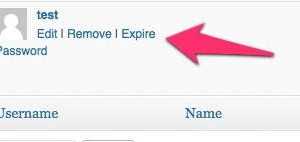 Expire Password