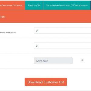 WooCommerce Export customer list csv