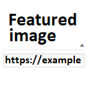 External url as post Featured Image (thumbnail)