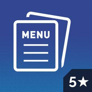 Five Star Restaurant Menu