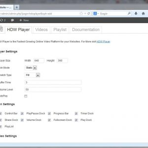 HDW Player Plugin (Video Player & Video Gallery)