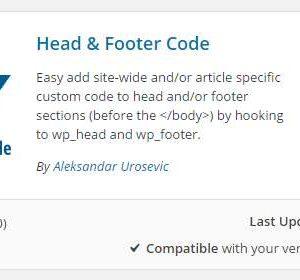 Head & Footer Code