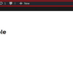 Hide Admin Toolbar