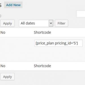 Hosting Pricing Tables
