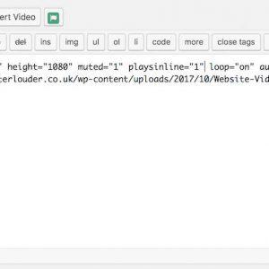 Inline Video Shortcodes