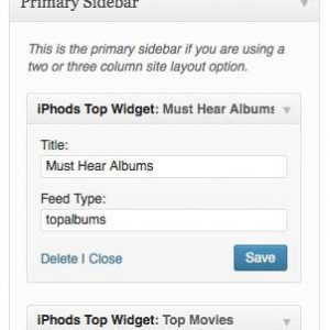 iPhods iTunes Top Products Widget