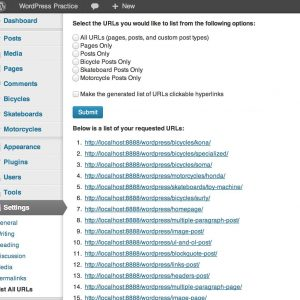 List all URLs