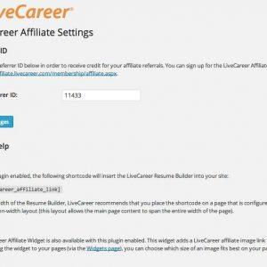 LiveCareer Affiliate Resume Plugin